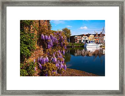 Canal In Brielle. Netherlands Framed Print