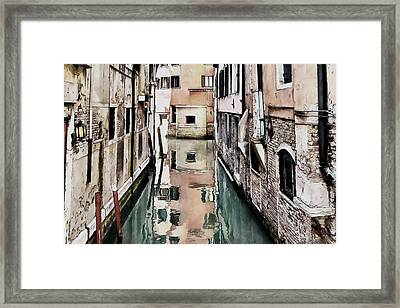 Framed Print featuring the digital art Canal In Venice by Kai Saarto
