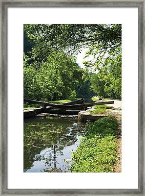 Canal Lock Framed Print by Jim West