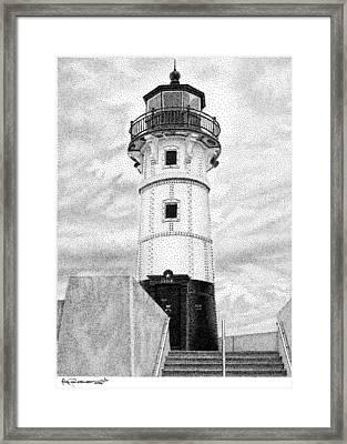 Canal Park Lighthouse Framed Print by Rob Christensen