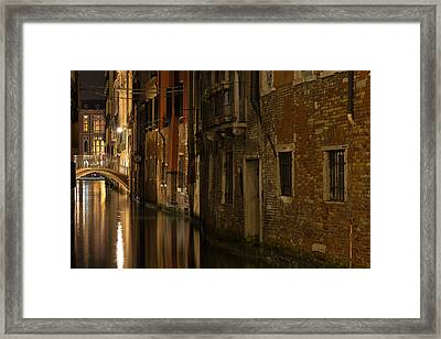 Canal Reflections Framed Print by Marion Galt