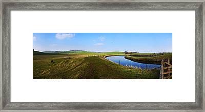Canal Framed Print by Riley Handforth