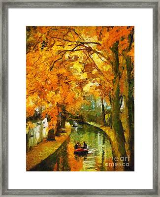 Canal Rowing Framed Print by Dragica  Micki Fortuna