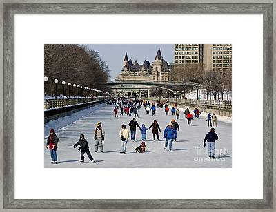 Framed Print featuring the photograph Canal Skate I by Jessie Parker