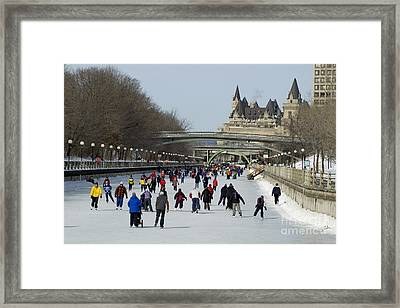 Framed Print featuring the photograph Canal Skate II by Jessie Parker