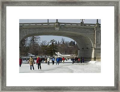 Framed Print featuring the photograph Canal Skate IIi by Jessie Parker