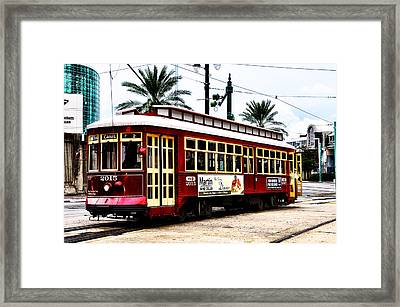 Canal Street Car Framed Print by Bill Cannon