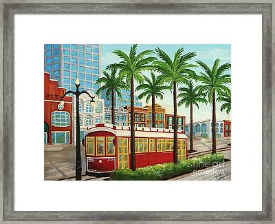 Canal Street Car Line I I Framed Print