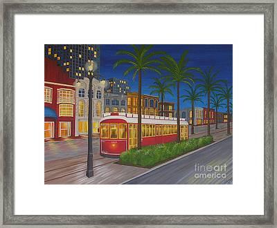 Canal Street Car Line Framed Print