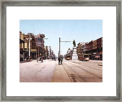 Canal Street New Orleans 1900 Framed Print