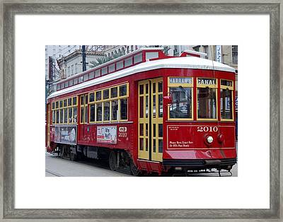 Canal Streetcar Nola Framed Print