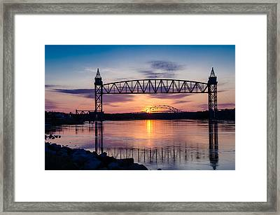 Canal Sunrise Framed Print