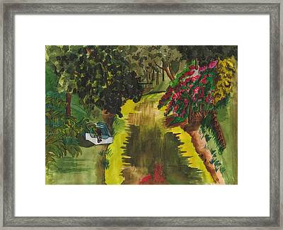 Canal To Lake Clay Framed Print