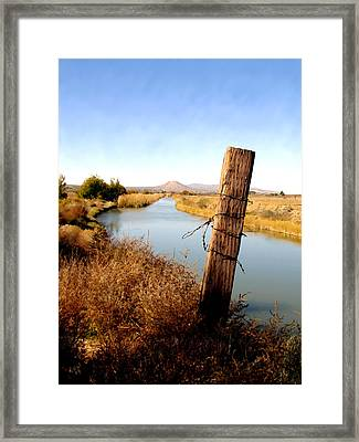 Canal View  Mesilla Framed Print by Kurt Van Wagner
