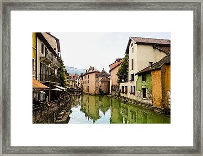 Canal View Number 1 Annecy France Framed Print