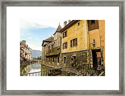 Canal View Number 2 Annecy France Framed Print