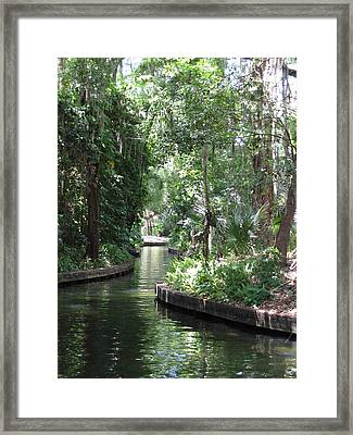 Canal Winter Park Chain Of Lakes Framed Print