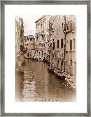 Canale Di Venezia Framed Print