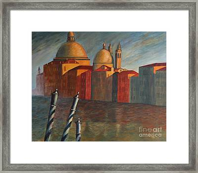 Canale Grande Venice Framed Print by Christiane Schulze Art And Photography