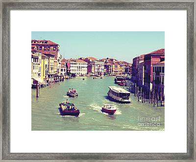 Canale Grande Venice Italy Framed Print by Ernst Cerjak