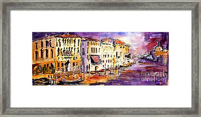 Canale Grande Venice Italy Framed Print