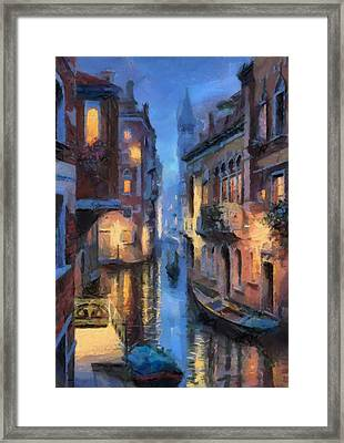 Canale Venice Framed Print