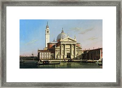 Canaletto The Church Of S Giorgio Maggiore Venice With Sandalos And Gondolas  C 1748 Framed Print