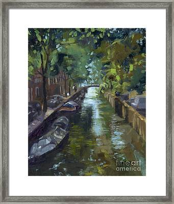 Sold Canals Of Coexistence Framed Print