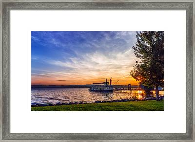 Canandaigua Lady Framed Print by Mark Papke