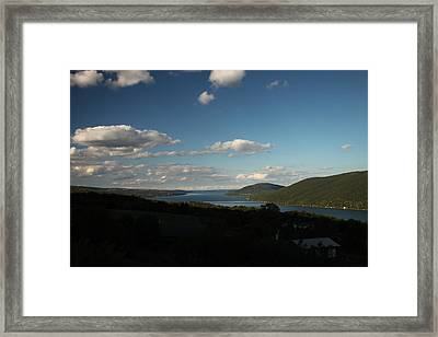 Canandaigua Lake And Bare Hill Framed Print