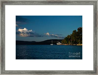 Canandaigua Lake Home Framed Print by Steve Clough