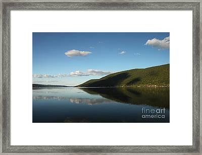 Canandaigua Lake Reflection Framed Print