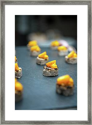 Canapes Framed Print