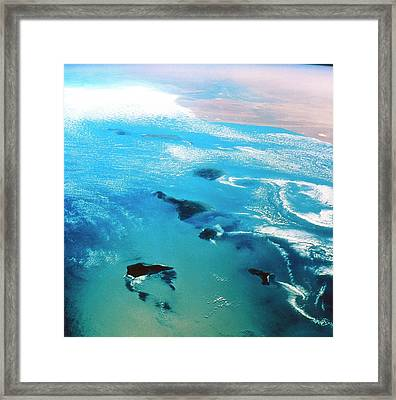 Canary Islands Seen From Space Framed Print by Nasa/science Photo Library