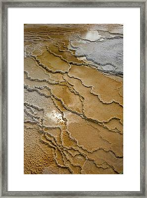 Canary Springs, Mammoth Terrace Framed Print