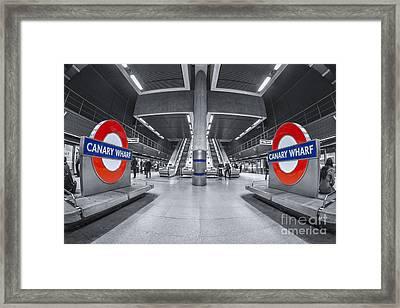 Canary Wharf Framed Print by Evelina Kremsdorf