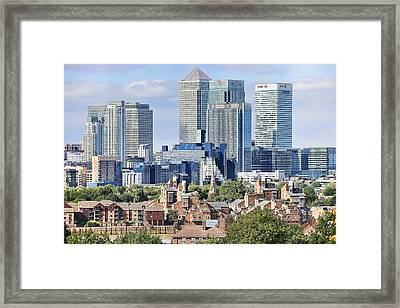 Framed Print featuring the photograph Canary Wharf by Gouzel -