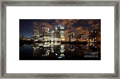 Framed Print featuring the photograph Canary Wharf London by Mariusz Czajkowski