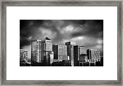 Canary Wharf London Framed Print by Mark Rogan