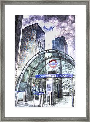 Canary Wharf Station Art Framed Print