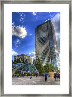 Canary Wharf Station London Framed Print