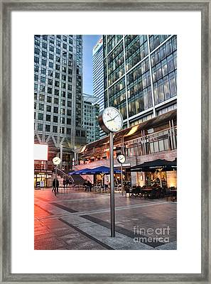Canary Wharf Twilight Framed Print by Jasna Buncic