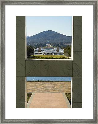 Canberra - Parliament House View Framed Print by Steven Ralser