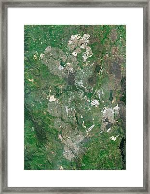 Canberra Framed Print by Planetobserver