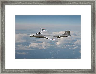 Canberra Pr9 - ' Up Where She Belongs' Framed Print by Pat Speirs