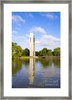 Canberra The Carillon Framed Print by Colin and Linda McKie