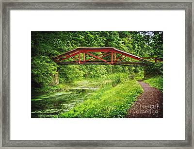 Canal Bridge Framed Print by Debra Fedchin