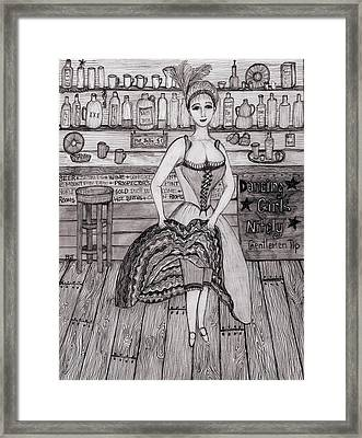 Cancan Dancer Framed Print by Barbara St Jean