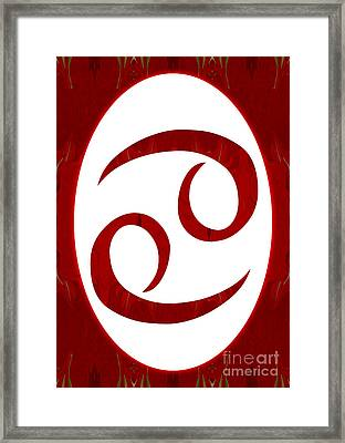 Cancer And Root Chakra Abstract Spiritual Artwork By Omaste Witk Framed Print by Omaste Witkowski