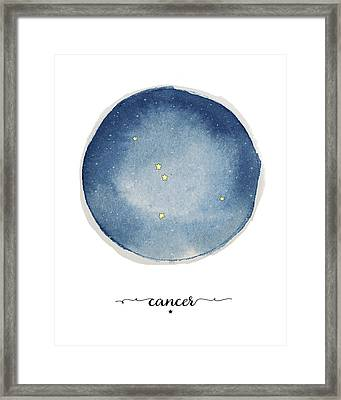 Cancer Circle Framed Print by Amy Cummings